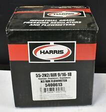Harris 55 2 N2air 916 18 Heavy Duty Air Nitrogen Single Stage Flowmeter