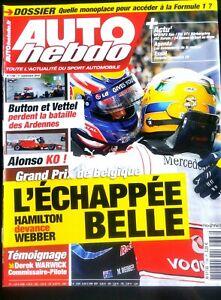 Amical Auto Hebdo Du 1/9/2010; Gp De Belgique, Hamilton Devance Webber/ Button-vettel Couleur Rapide