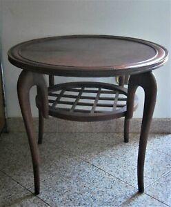 Tavolino Rotondo Coffee Table Gio Ponti Anni 50 Legno Ebay