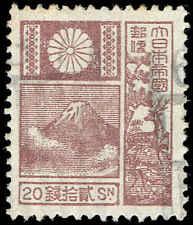 Scott # 176 - 1930 - ' Mt. Fuji '; Granite Paper, New Die 18.5mmx22mm