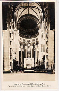 Interior-Crossing-Choir-Looking-East-Cathedral-St-John-The-Divine-New-York-RPPC