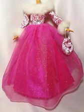 Barbie Doll Fashion Avenue Deluxe White & Pink Lace Gown complete outfit