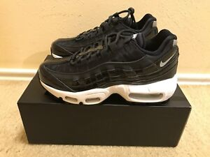 Details about Nike Air Max 95 SE PRM Women's Size 5 Black Reflect Silver Black AH8697 001 NIB