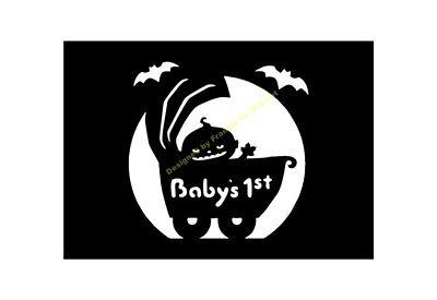 Halloween Stencil Baby's First Halloween A5/a4/a3/a2/a1/a0 350 Micron Hall062 Uitgebreide Selectie;