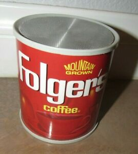 Vintage Folger's Coffee Can AM Transistor Radio - Made in Hong Kong WORKS
