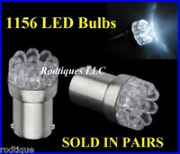 12 Volt 1156 Led Bulbs Single Function White Super Bright Leds Straight Pin 12v