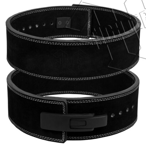 Details about  /FIGHTERS Weight Power Lifting Leather Lever Pro Belt Gym Training Power lifting
