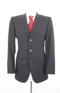 JOOP! Anzug Melville Bank Gr.48 schwarz Nadelstreifen Einreiher 3-Knopf -C42