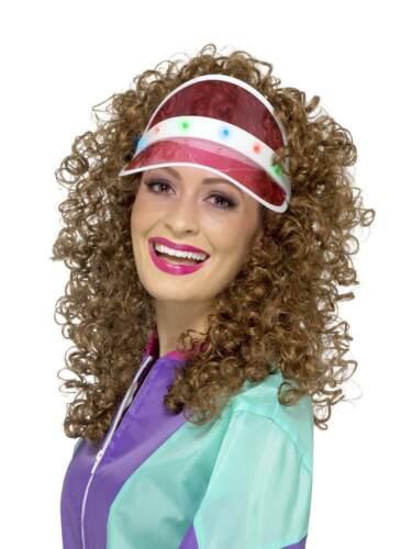 80S Luz Visera Rosa Vestido de Fantasía Accesorio 1980S