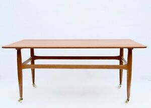 Details About Vintage Mid Century Danish Coffee Table 1960smade In Denmark 1960s Marked