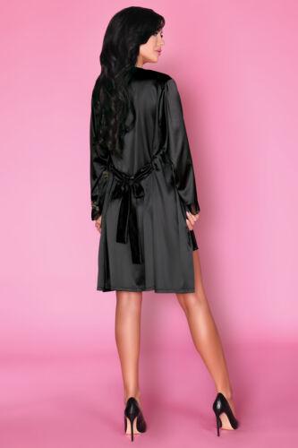 LIVCO CORSETTI Natasha Luxury Super Soft Decorative Satin Dressing Gown Robe
