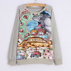 Studio Ghibli My Neighbour Totoro Cute Long Sleeve T-shirt Jumper Sweater Coat