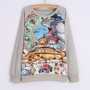 Studio-Ghibli-My-Neighbour-Totoro-Long-Sleeve-T-shirt-Jumper-Sweater-All-Sizes