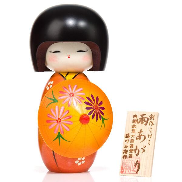 Sunshine GIRL WITH PARASOL Kokeshi DOLL