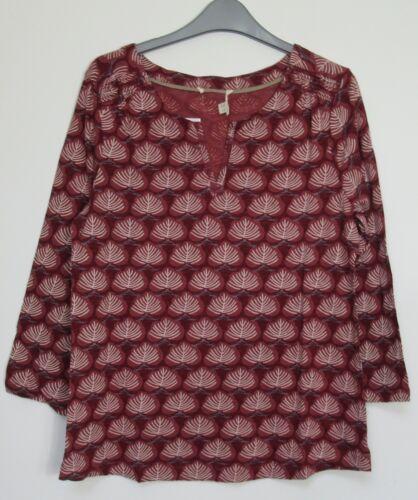 Size 6-18 White Stuff Bella Japan red jersey Tunic Top