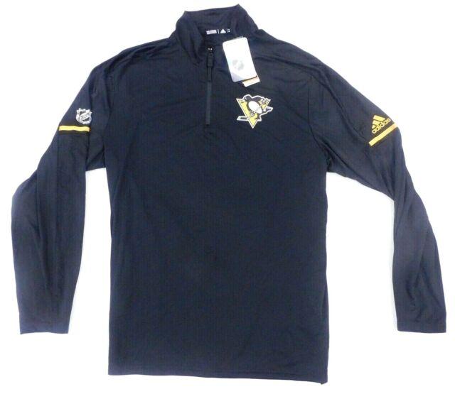 NHL Pittsburgh Penguins adidas Long Sleeve Climalite T Shirt Mens