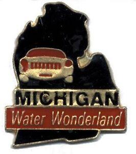 Hat Lapel Push Pin Tie Tac State of Michigan NEW