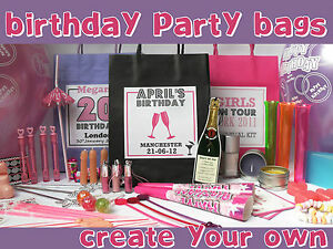 Image Is Loading BIRTHDAY PARTY PERSONALISED GIFT BAG FILLED ADULT GIRLS