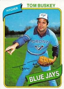 trading card Topps BLUE JAYS 1980 TOM BUSKEY  #506