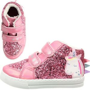 Glitter Girls canvas shoes high HI TOP ankle trainers size 12UK KIDS sparkly