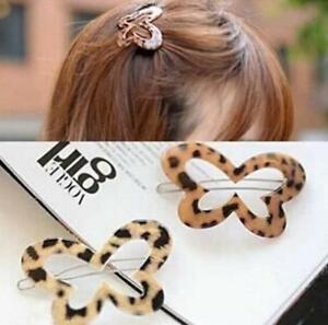 Fashion-Women-Acrylic-butterfly-Hair-Clip-Accessories-Barrette-Leopard-style