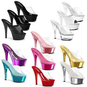 b2dbff1c6a Image is loading PLEASER-Kiss-201-Sexy-Platform-Slide-Shoe-Sandal