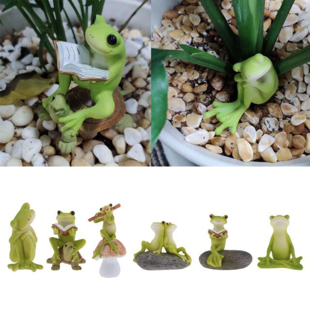 5 Pairs Cute Bonsai Dollhouse Craft Garden Ornament Landscape Frogs Decor