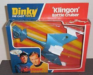 "Vintage DINKY 1977 STAR TREK 9"" Diecast Ship #357 KLINGON BATTLE CRUISER MIB #2"
