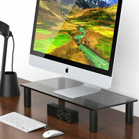 Fitueyes Clear Computer Monitor Riser 4.7'' High 23.6'' Save Space Desktop Stand