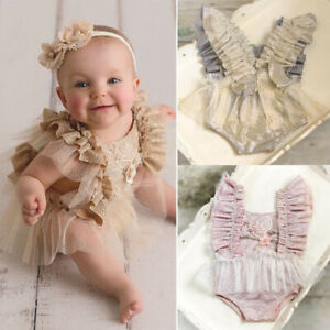 Lace-Newborn-Infant-Baby-Girl-Tutu-Tulle-Romper-Jumpsuit-Bodysuit-Outfit-Clothes