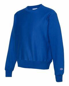 Champion-Mens-Reverse-Weave-Crewneck-Sweatshirt-Blank-Solid-S149-XL-Royal