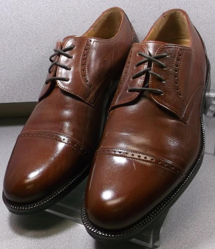 5913500 MS50 Hommes Chaussure De Taille 8.5 W Antique Tan en cuir à lacets Johnston & Murphy