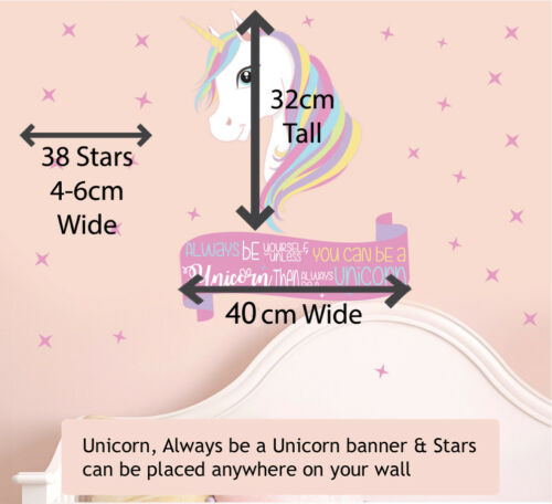 Always Be Yourself Unless You can Be Unicorn Wall Art Stickers Murals Decals