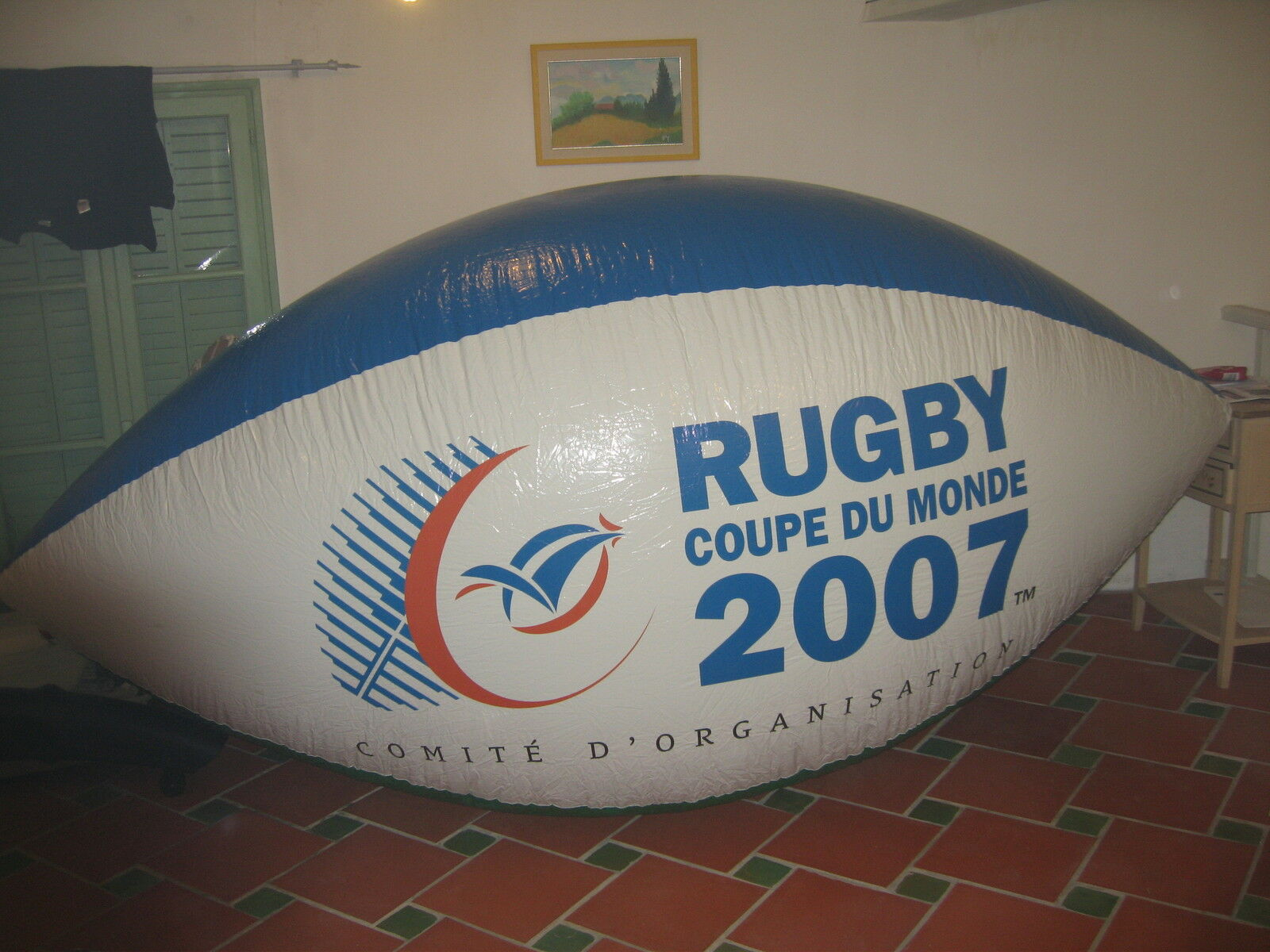 Ballon rugby 3 m long helium ou air coupe du monde 2007  world cup  balloon