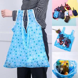 Reusable-Foldable-Storage-Shopping-Fruit-Portable-Shoulder-Handbag-Grocery-Bags
