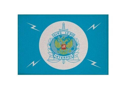 Aufnäher Interpol Russland Fahne Flagge Aufbügler Patch 9 x 6 cm
