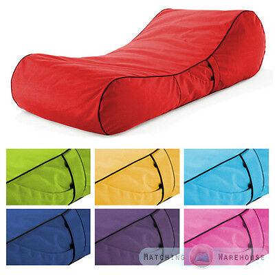 Outdoor Garden Waterproof Bean Bag Sun Lounger Recliner Furniture Chaise Bed
