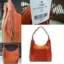 NWT Danier geniune leather & suede hobo bag purse handbag rust orange brown