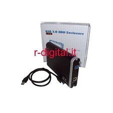 """BOX ESTERNO SATA 3.5 USB 3.0 HD HARD DISK 3.5"""" CASE con ALIMENTATORE ARCHIVIO"""