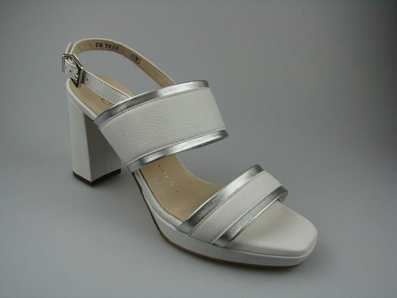 Peter Kaiser Carloni sandali bianco/argento in pelle tg. 37,5