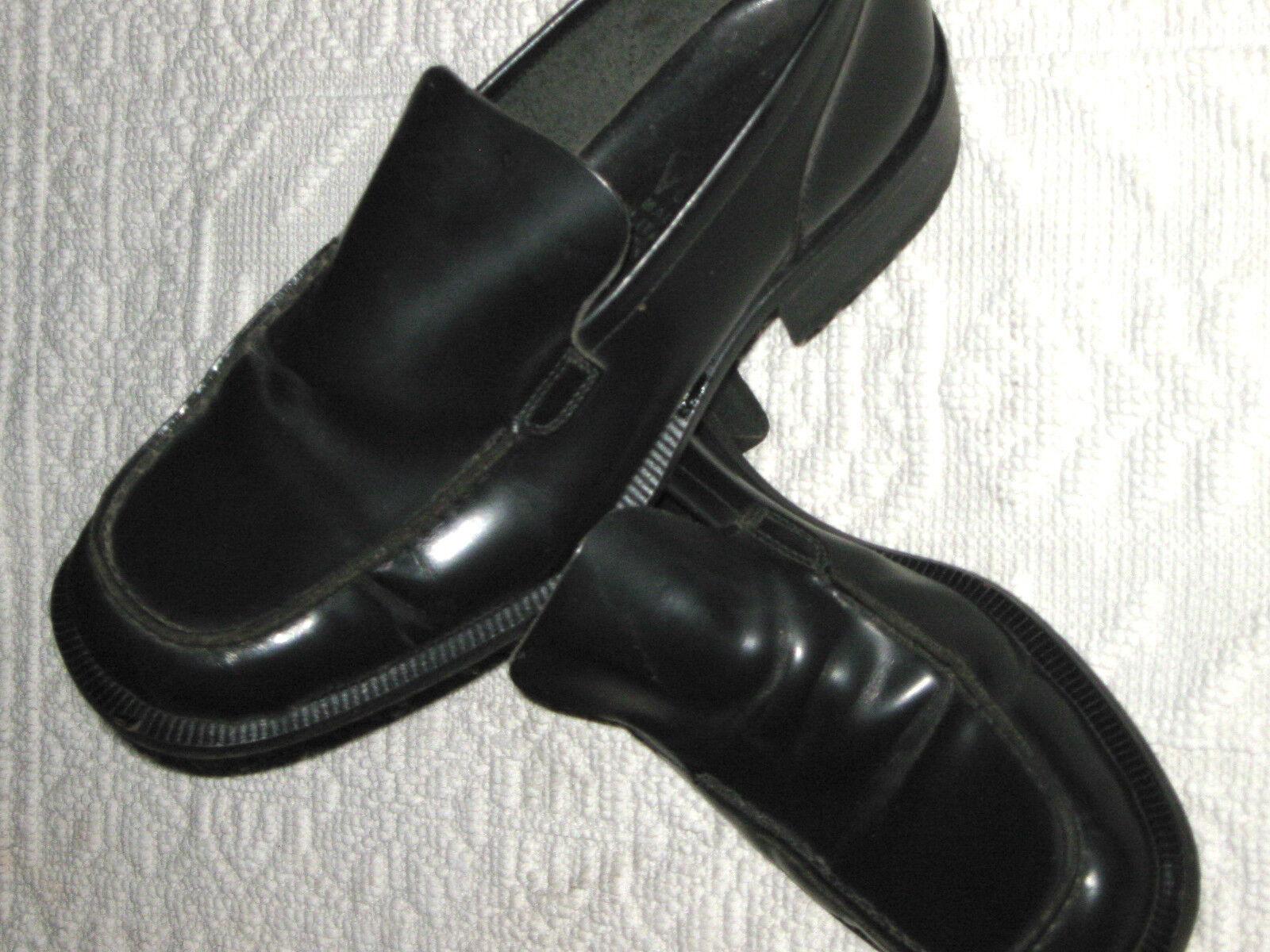 Mocassini herren In Vero Cuoio Spazzolato schwarz Lucido Tg.41 Made In