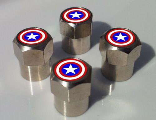 Superhero Cartoon Comic Logo Reifen Ventilkappen für Rad Rand Verschiedene Stile