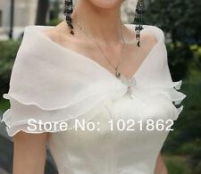 Wedding Bride Bridal Jacket Shawl Bolero Shrug- Two Tier White - Party from UK
