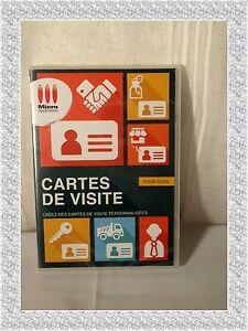 Logiciel Cartes De Visites Pour Tous Micro Application