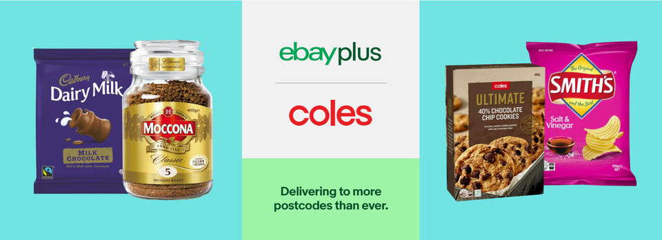 Use code PLUSCS10 - 10% off* Coles for eBay Plus members