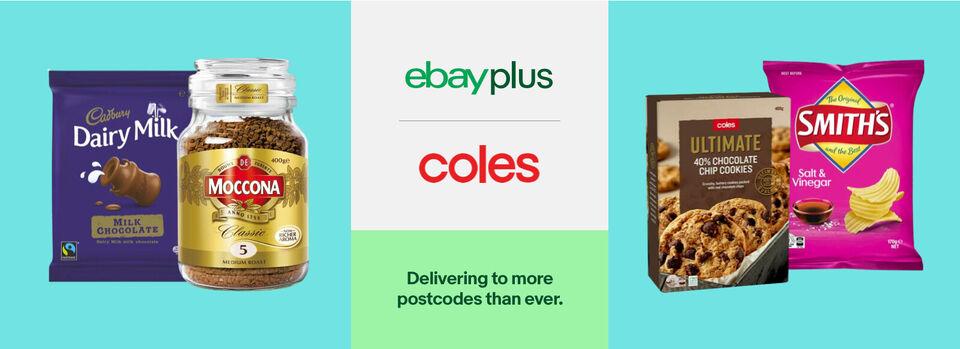 Use code PLUSCS10 - 10% off* Coles for eBay Plus members
