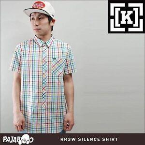 NEW KR3W Silence Short-Sleeve Button-Down Skate Woven Shirt M Egg NWT $45£40 50€