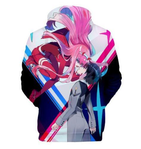 DARLING in the FRANXX Anime Kapuzen Sweatshirt T-Shirt Hoodie Pullover Pulli