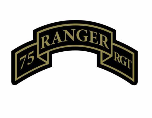 75th Ranger Regiment Tab ACU Vinyl Decal Sticker US ARMY