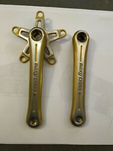 Sugino Maxy Cross 170mm Cranks Gold Anodised Excellent Condition
